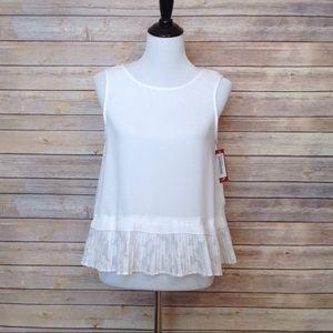 Merona white peplum style sleeveless blouse